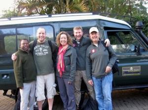 Albert and his Toyota Land cruiser ready to take us on safari.