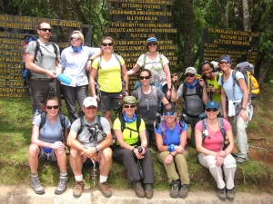 Outward Bound 2014 Mount Kilimanjaro team