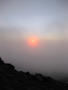 Sunrise at the top of Africa!